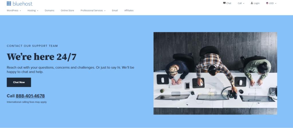 bluehost customer service