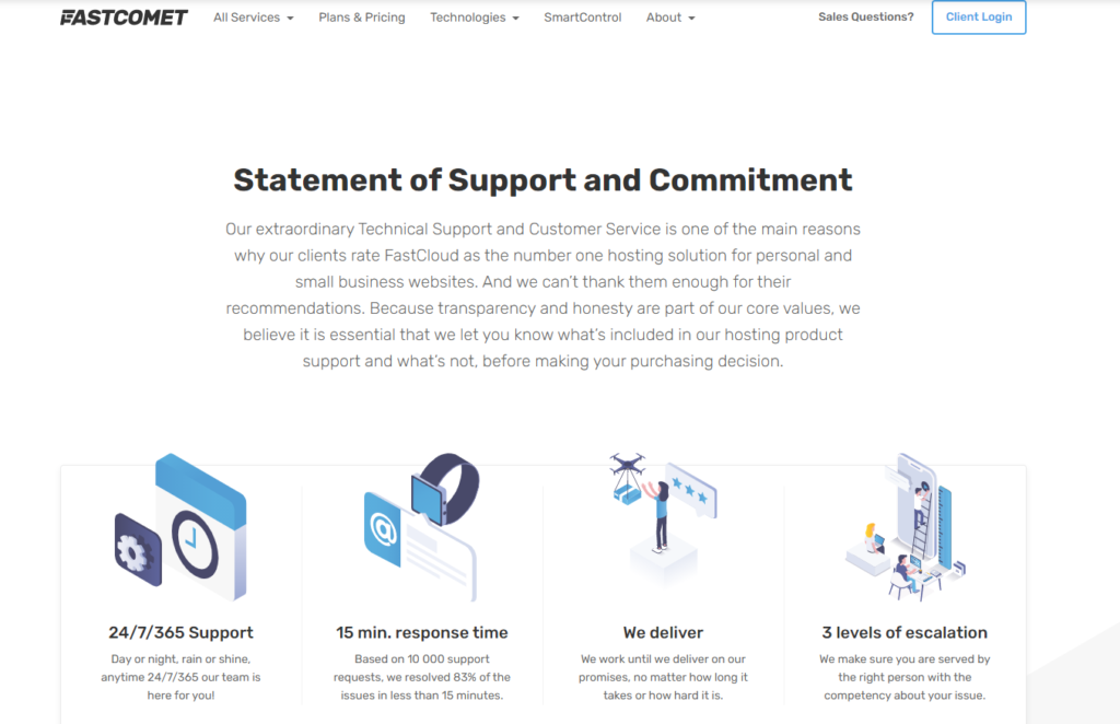 fastcomet customer support